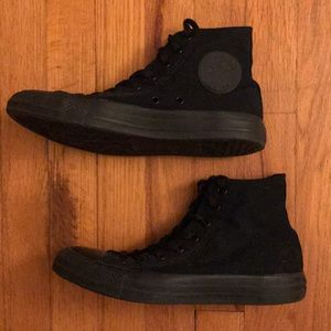 Converse Limited Edition Black High Top Sneakers